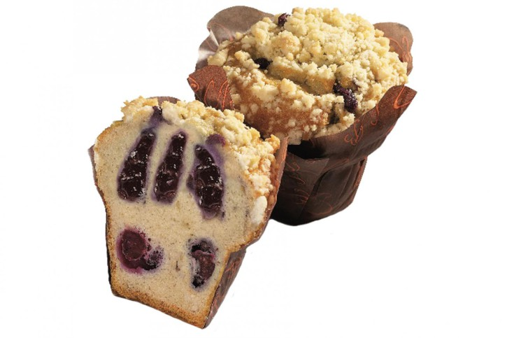 XXL-Blueberry-filled Crumble-Muffin 135g, 24 Stück
