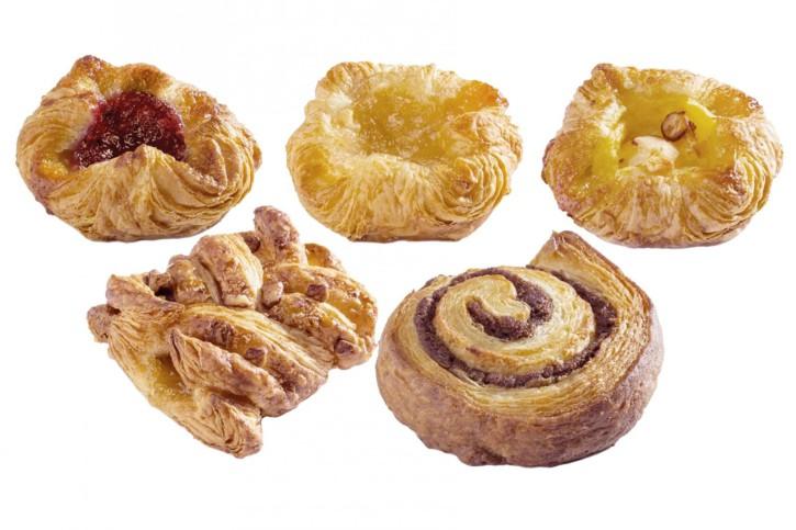 Mini-Mix Danish pastry 42g, 5 x 24 Stück