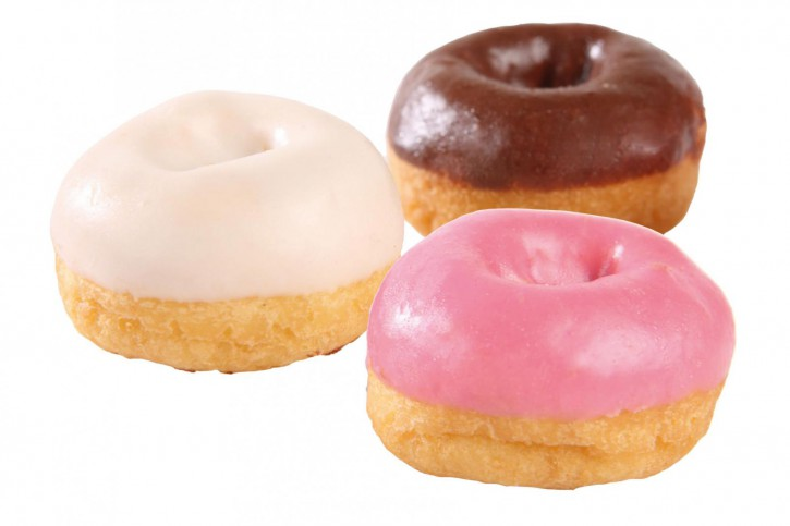 Mini-Mixbox Donut pinky Glasur, helle Fettglasur, Kakao-Fettglasur 12g, 150 Stück
