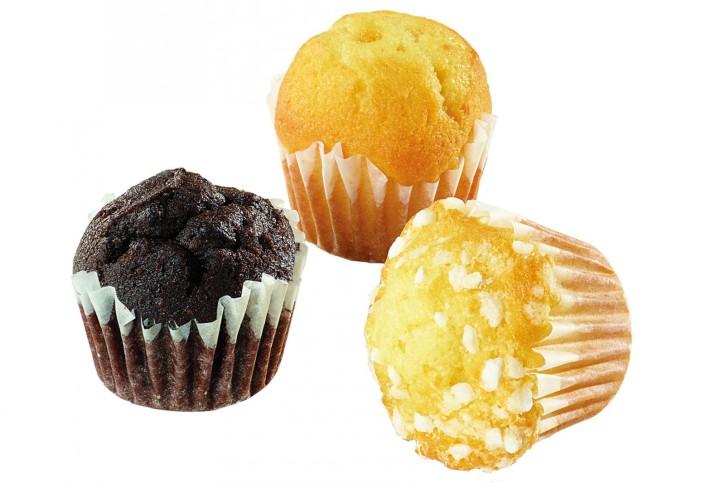 Mini-Mixbox Muffin (Natur, Double Chocolate und Zitrone) 19g, 120 Stück