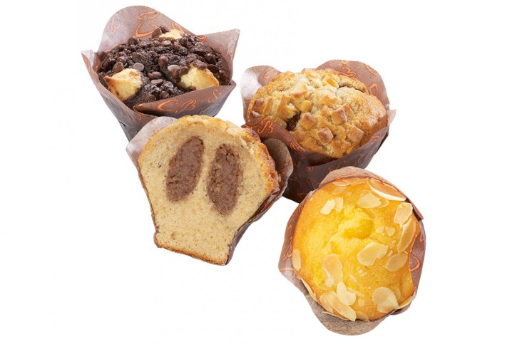 Muffin-Premium-Mix - Cappuccino, Cheesecake und Coconut 45g, 3 x 20 St.