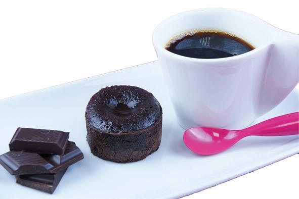 Mini coulant gourmand au chocolat - Lava Cake 30g, 64 St.