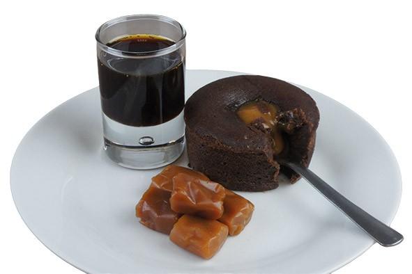 Coulant gourmand au chocolat coeur caramel 100g, 27 Stück