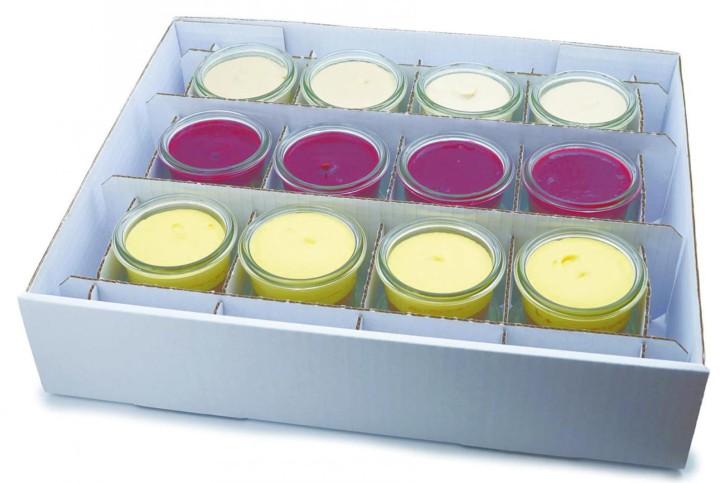 Vegan - Dessertselektion - 3 Sorten im Weckglas 80ml, 3 x 4 St.