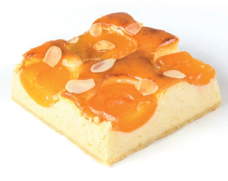Topfen-Marillen-Kuchen 115g, 24 Portionen