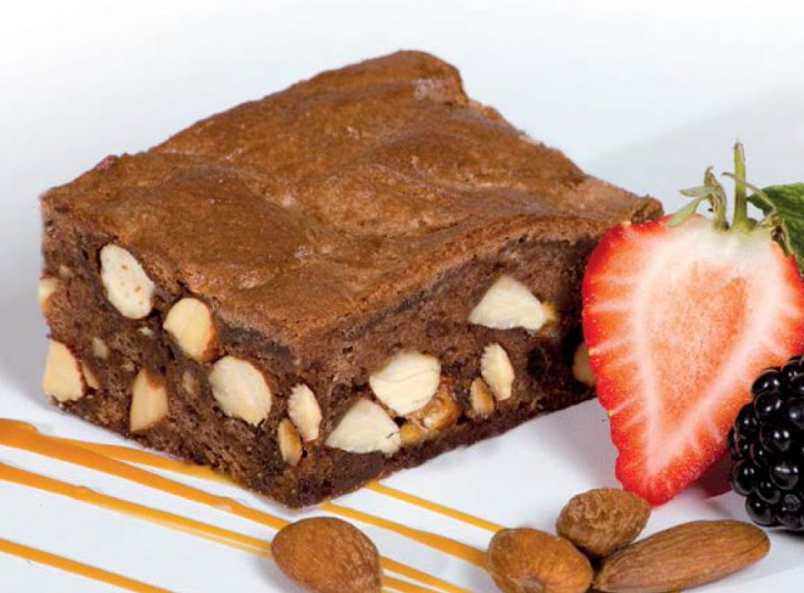 Brownie deluxe - mit karamell. Mandeln gluten- und laktosefrei 500g, 2 Stück