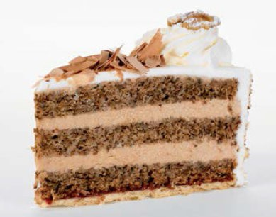 Nougat-Walnuss-Torte 140g, 14 Stück