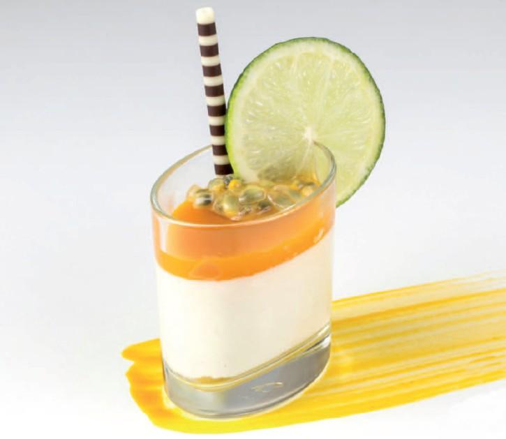 Limetten Pana Cotta mit Passionsfruchtspiegel - Nachfüller - 65 ml, 30 Stück