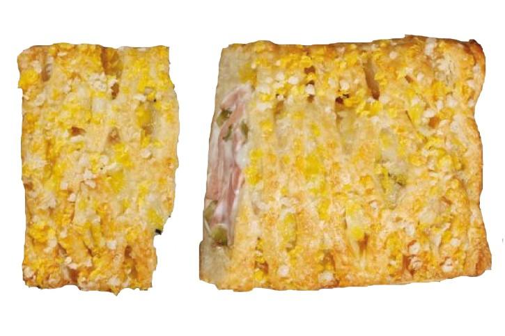 Fleischsalat Yummi mit Mandelgriess-Topping 130g, 40 Stück