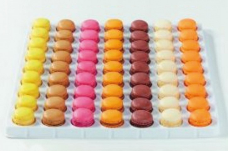 Mini-Macarons á la Folie, 7 Sorten, 6 - 7g, 7 x 27 Stück
