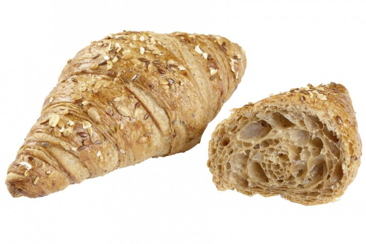 Mehrkorn Buttercroissant (Körner-Topping) - Delifrance 80g, 56 St.