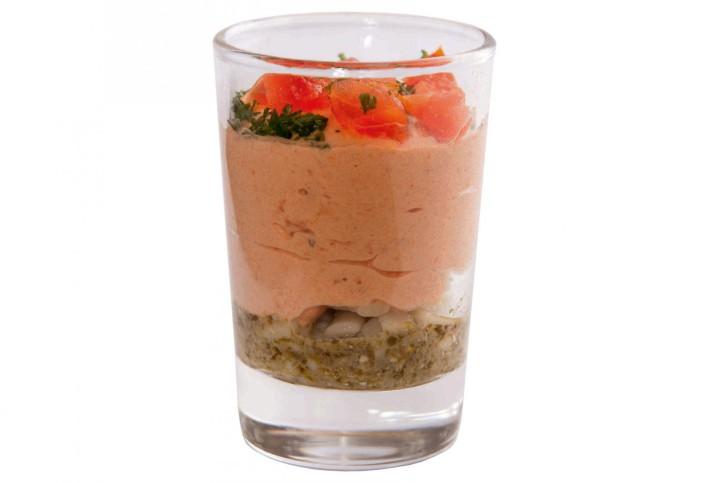 Dessert Tomates - Pâtes au pesto im Glas 66 ml, 48 Stück