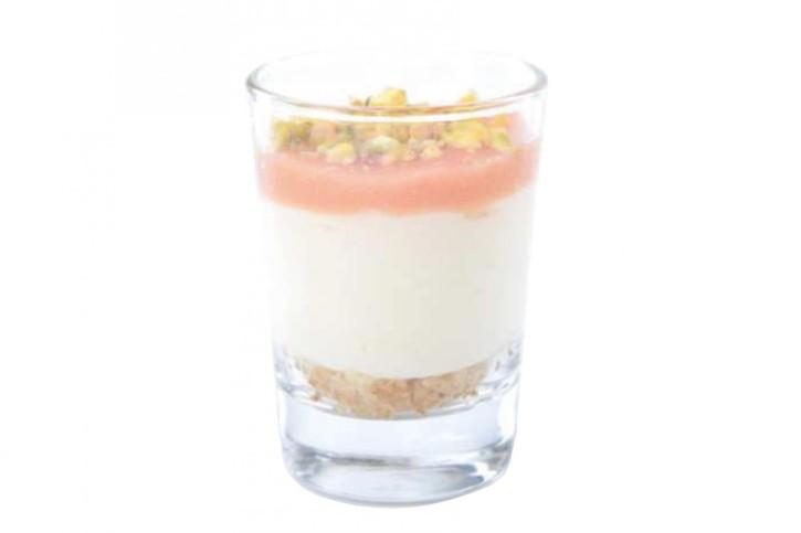 Dessert Cheesecake citron Sablé Goyave im Glas 66 ml, 48 Stück