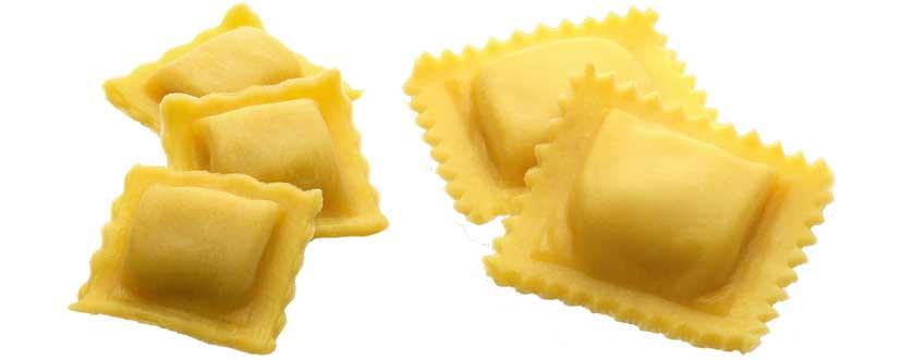 Ravioli / Tortelli gefüllt