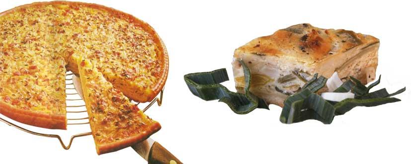 Zwiebelkuchen & Lauchquiche